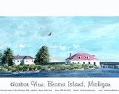 Beaver Island Harbor View Poster