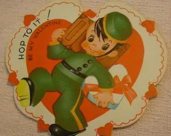 Vintage Valentine's Day Card little bellhop I Deliver My Heart To You
