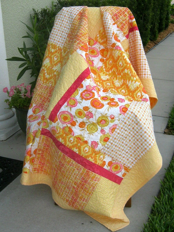 Yellows/Orange/Pink/White - Modern/Contemporary Quilt