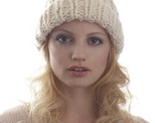 Rib Winter White Pom Pom Hat