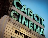 Cabot Cinema Neon Sign - Retro Home Decor - Movie Theater Marquee - Graphic Wall Art - Beverly Massachusetts - Fine Art Photography