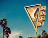 Vintage Googie Bowling Alley Sign - Space Age Inspired - Vintage Los Angeles Sign Art - Brunswick Covina Bowl - Fine Art Photography