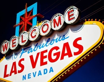 Welcome to Fabulous Las Vegas Vintage Neon Sign - Retro Home Decor - Colorful Googie Wall Art - Graphic Art - Fine Art Photography
