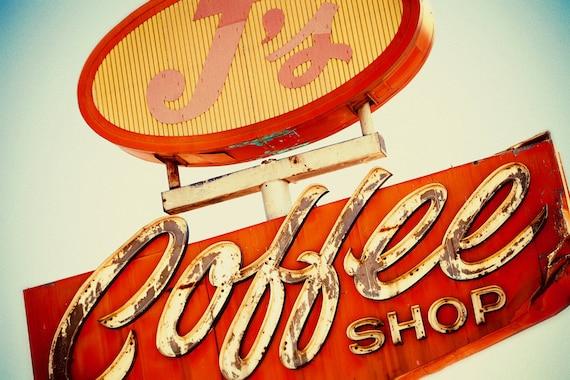 Vintage Coffee Shop Photography j 39 s Coffee Shop Vintage Neon