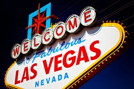 50% OFF SALE - Welcome to Fabulous Las Vegas Vintage Neon Sign - Retro Home Decor - Googie Graphic Wall Art - 12x18 Fine Art Photograph
