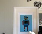 Robot dark blue