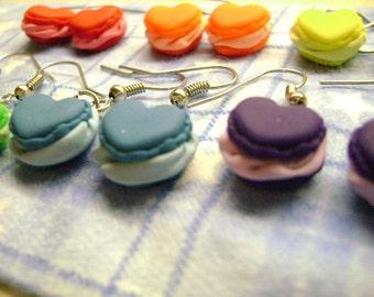 Cute Heart Shaped Macaroon Earrings