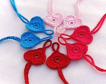 Gift ideas for baby, 4 pairs Baby Heart Barefoot sandals Baby shoes Light Pink Fuchsia Red Turquoise Barefoot Sandals