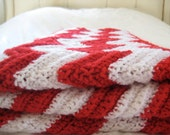 Candy Cane ripple afghan by Rose 80x36