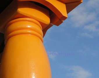 Orange Table Leg, 8 x 10 fine art photo, Asbury Park NJ, Abstract Photo, Jersey Shore Art, beach art