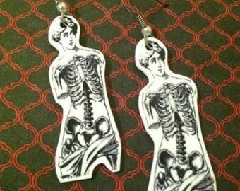 Venus De Milo Skeletal Earrings
