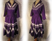 AMAZING 1950S Rockabilly South Western VINTAGE Cotton skirt with matching top