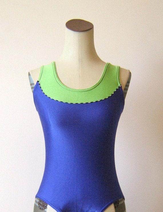 Lime Green & Purple Workout Leotard Dancewear
