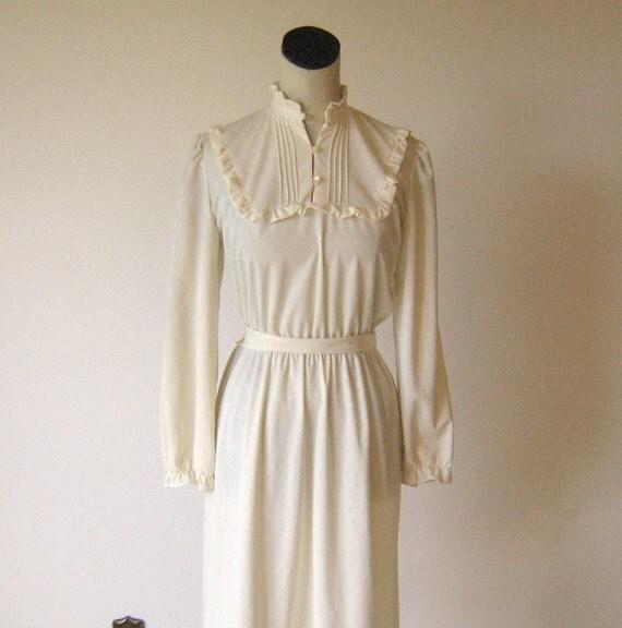 Ivory Lolita Prairie Day Dress Ruffle