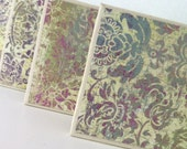 Ceramic Tile Coasters- Set of 4- Vintage Royalty