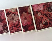 Ceramic Tile Coasters- Set of 4- Garden Through Rose-Colored Lenses