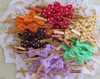 50Lovely Spot Ribbon Twist Tie