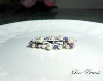 Romantic Glamour Hair Snap Clip (Small size) with Full Swarovski Crystals (Custom Made)