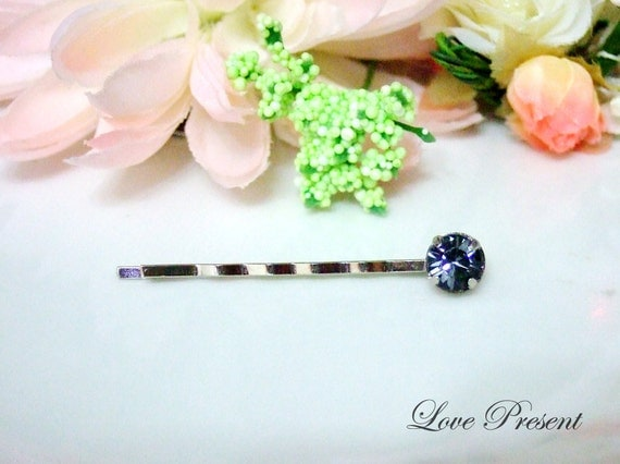 Pay it Forward -1 Pc  - Classic Hair Bobby Pin with Swarovski Crystal - Special Love Sales