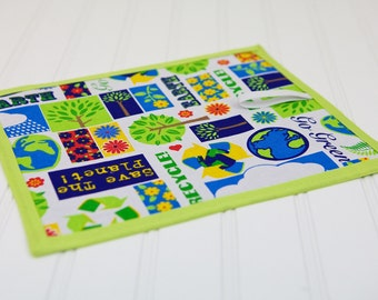 Kids Toy Chalkboard Mat Reusable Art Toy Earth Day Boy or Girl Blue Green Children's Toy