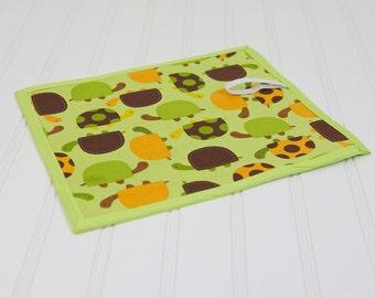 Quiet Toy Chalkboard Mat Reusable Art Toy Turtles, Homeschool Material