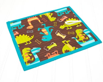 Dinosaur Chalkboard Mat Reusable Art Toy Dino Dudes Boy Drawing Toy