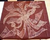 Japanese Cotton Table Cloth fabric tablecloth crimson