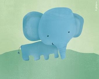 Lil' Mr. Elephant Art Print