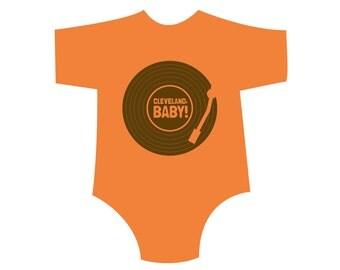 Orange CLEVELAND, BABY Kids Shirt/Onesie