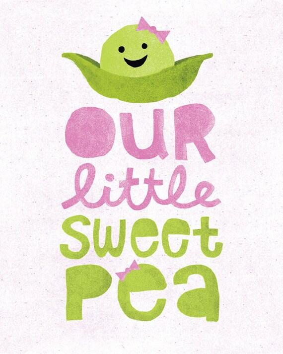Lil' Sweet Pea Nursery Art Print