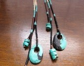 Turquoise Treasure - Long Fringe Earrings (((SPRING CLEANING SALE)))