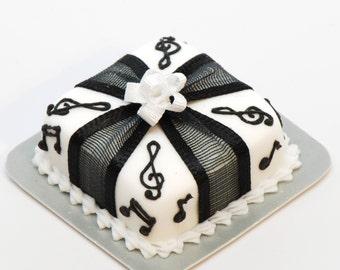 Square Music Cake