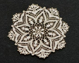Snowflake Antique Laser Cut Doily