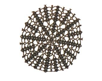 Antique Spider Web Black Laser Cut Doily