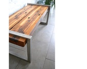 Railroad tie bench