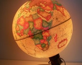 Vintage Illuminated World Globe Spot Globe - Made in Denmark - TREASURY PICK