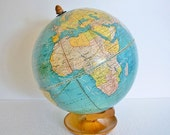 "Vintage Globe - Rare WWII - ""Manchuria Seized By Japan...""  Designation - TREASURY PICK"