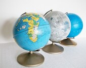 RESERVED for Jon Knapp - 3 Decades of Globes - 1950 through 1970 - Earth,  Moon and Stars - TREASURY PICK