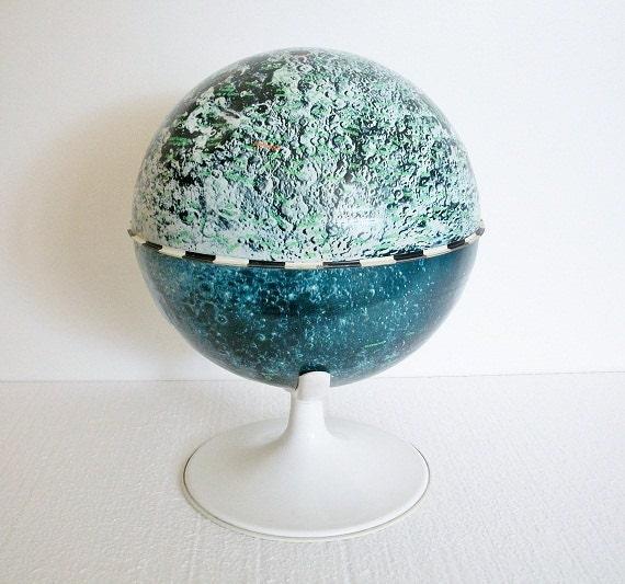 Vintage Moon Globe by J. Chein - TREASURY PICK