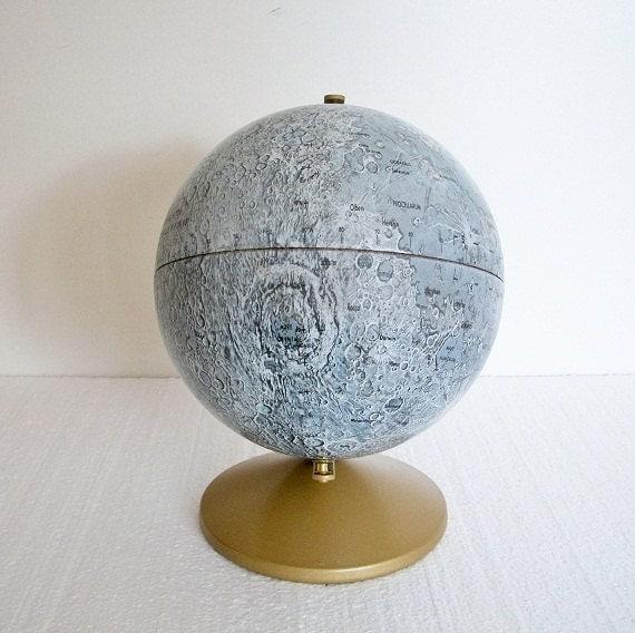 Vintage Replogle Moon Globe - Cold War Era - TREASURY PICK
