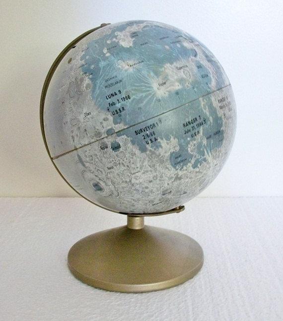 Vintage Moon Globe Bank - Late 1960s - Pre Apollo - TREASURY PICK