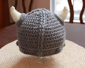 Viking Hat - Baby Size (Soft Acrylic Yarn) Newborn