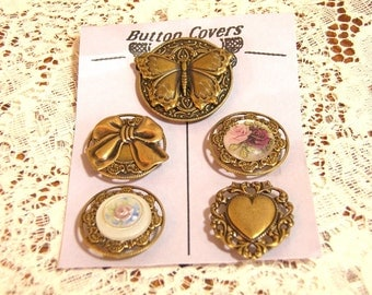 Victorian Style Vintage Button Covers