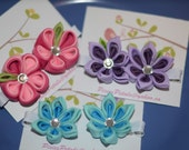 Kanzashi Flower Hairclip Set