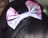 Tie Dye Bow Headband and Pink with Stars Bow Headband