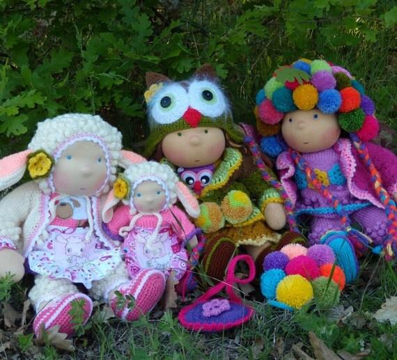 16'' CUSTOM Waldorf dolls - reserve for Alessandra Pancaldi