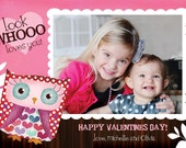 Valentines  Photo Card -- Whooo Loves You