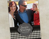 Holiday Greeting Photo Card -- Houndstoothy