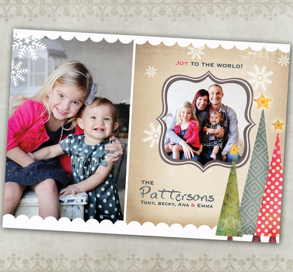 Holiday Photo Card-- Snazzy