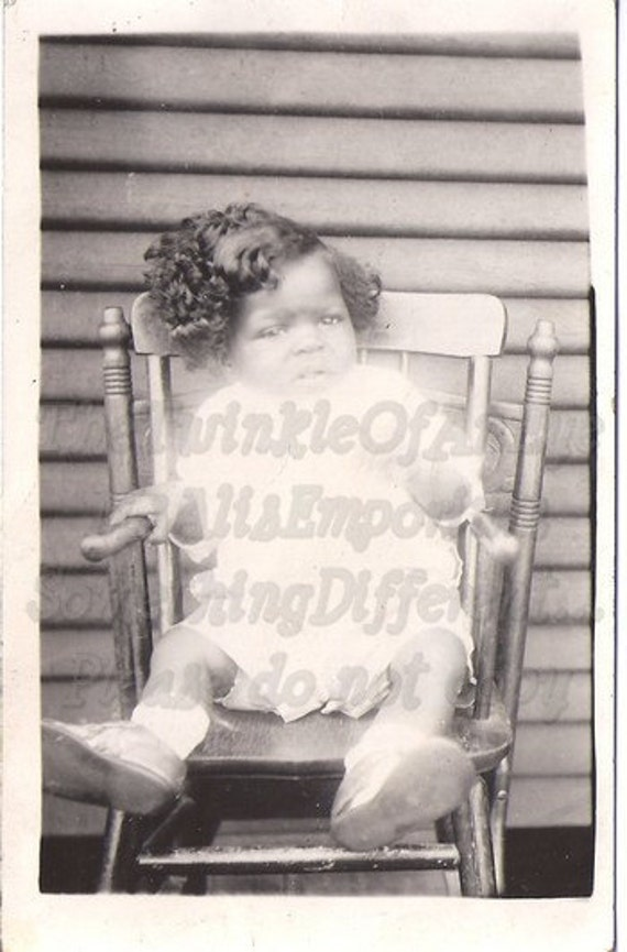 So Much Hair, Real Photo Postcard, Vintage Photograph, African American